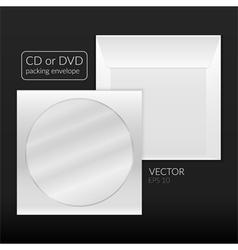 Cd or dvd packing envelope vector