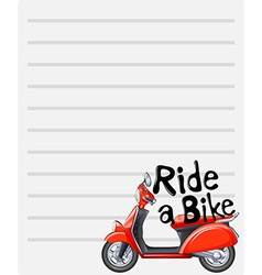 Line paper design with riding a bike vector
