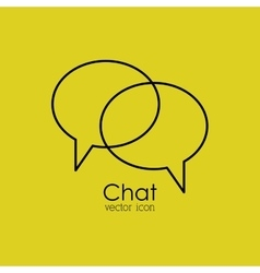 Chat isolated icon design vector