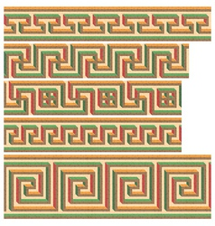 greek - roman seamless mosaics vector image