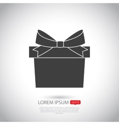 Gift icon flat design vector