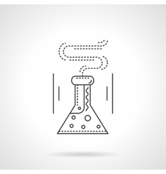 Laboratory flask flat line icon vector