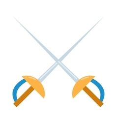 Colored fencing sword icon vector