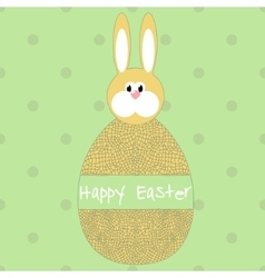 Happy easter poster egg with hare vector