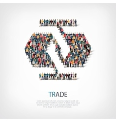Trade people crowd vector
