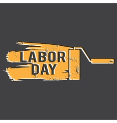 For labour day with paint roller vector