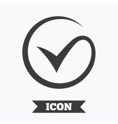 Tick sign icon check mark symbol vector