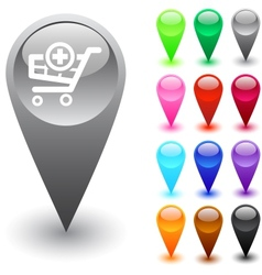 Add to cart button vector image vector image