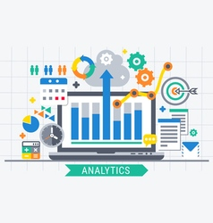 Analytics search information vector image vector image
