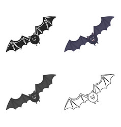 Bat icon in cartoon style isolated on white vector