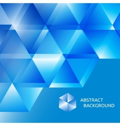 Blue abstract background of triangles vector image vector image