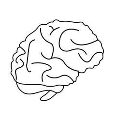 brain cartoon silhouette draw vector image