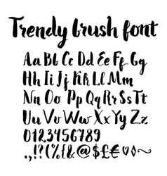 Brush written alphabet vector image