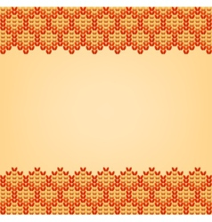 Color Knitted Wool Pattern Background vector image vector image