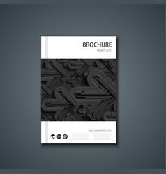 Flyer or banner brochure template vector