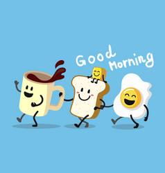 fun morning breakfast vector image vector image