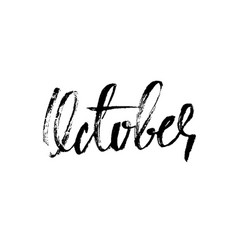 hand drawn typography lettering october month vector image vector image