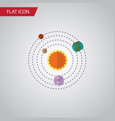 Isolated solar system flat icon milky way vector