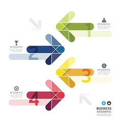 Modern design color arrows minimal style vector