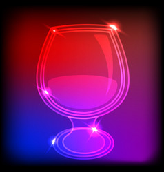 Neon glass vector