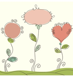 Nice doodle background vector image vector image