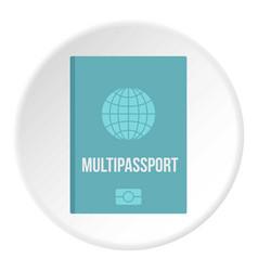 Passport icon circle vector