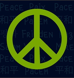 Peace vector image