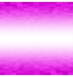 Pink mosaic tile square background perspective vector