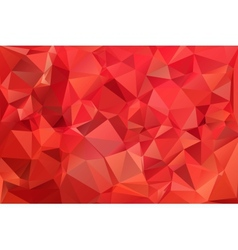 Red abstract background polygon vector