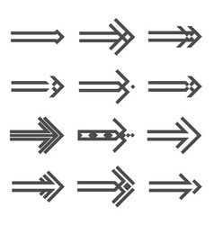 Set of various arrows sign vector image vector image