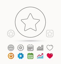 star icon web favorite sign vector image