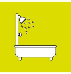 Tub service design vector