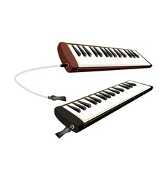 Two Musical Melodica Isolated on White Background vector image vector image