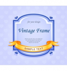 vintage frame with ribbon vector image vector image