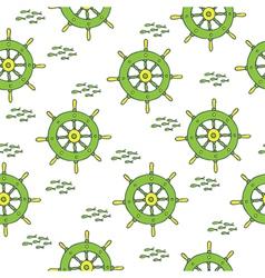 wheel pattern green yellow vector image vector image