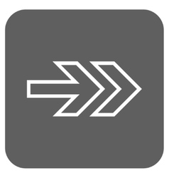 Direction right flat squared icon vector