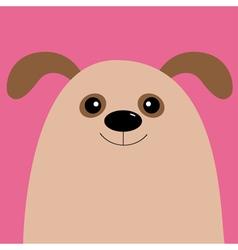 Dog head cute cartoon character pet baby vector