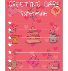 Valentine day card collection vector