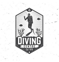 Diving centre vector