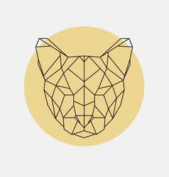Head of wild cat puma geometric style vector