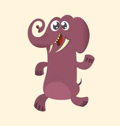 Cute cartoon elephant vector
