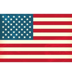 Grunge styled flag of usa vector