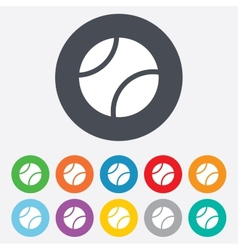 Tennis ball sign icon sport symbol vector