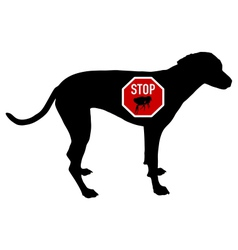 Dog stop sign for fleas vector