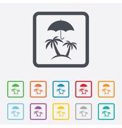 Trip insurance sign icon safe travel symbol vector
