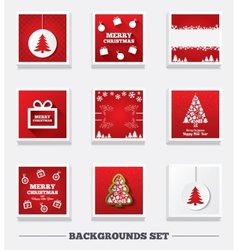 Christmas backgrounds Tree and gift box vector image