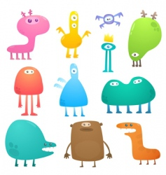 Funny monsters vector