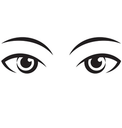 Pair female expressive eyes icon vector