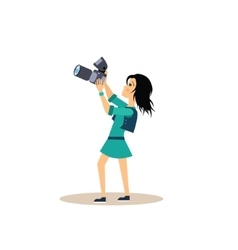 Photographer in flat style vector
