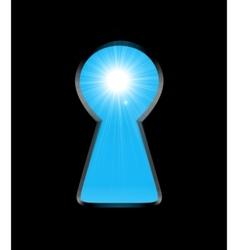 sunlight keyhole vector image